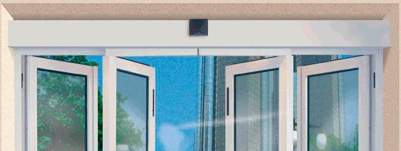 Puerta Automática de Salida de Emergencia MI-50N con sistema antipánico integral